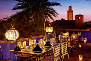 A view of Marrakech and its traditional scenery.